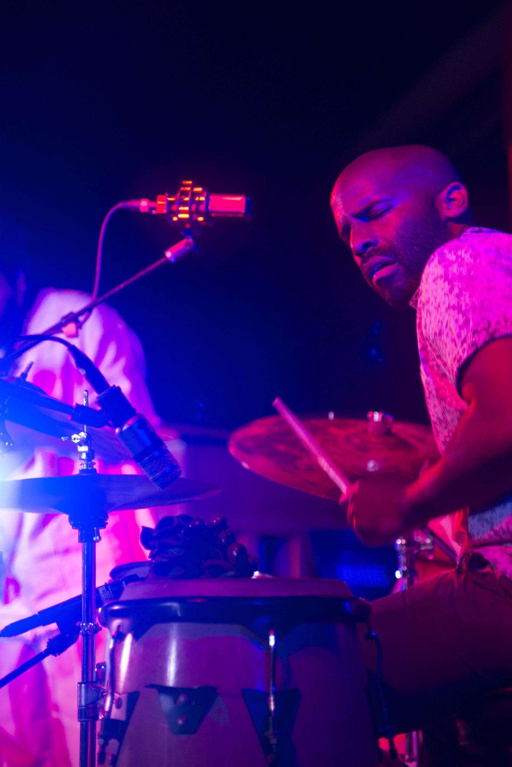 "Warren ""Trae"" Crudup III of the Organix Trio"