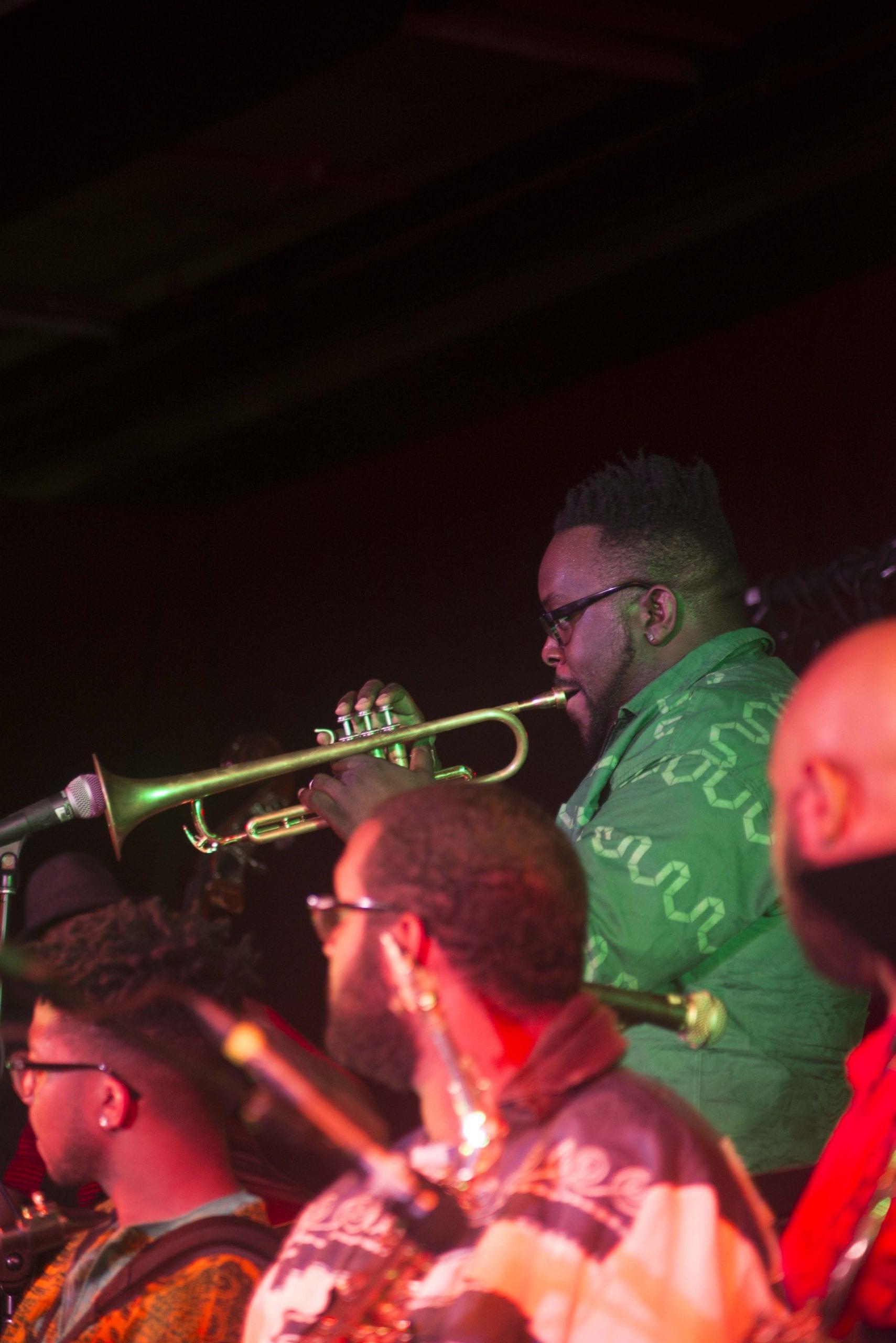 Marquis Hill in Ernest Dawkins' Live the Spirit Big Band