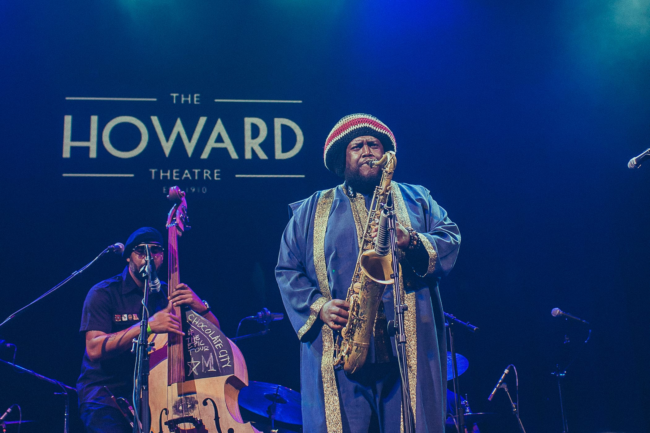 Kamasi Washington, right, and Miles Mosley. Courtesy Gezaw Tesfaye