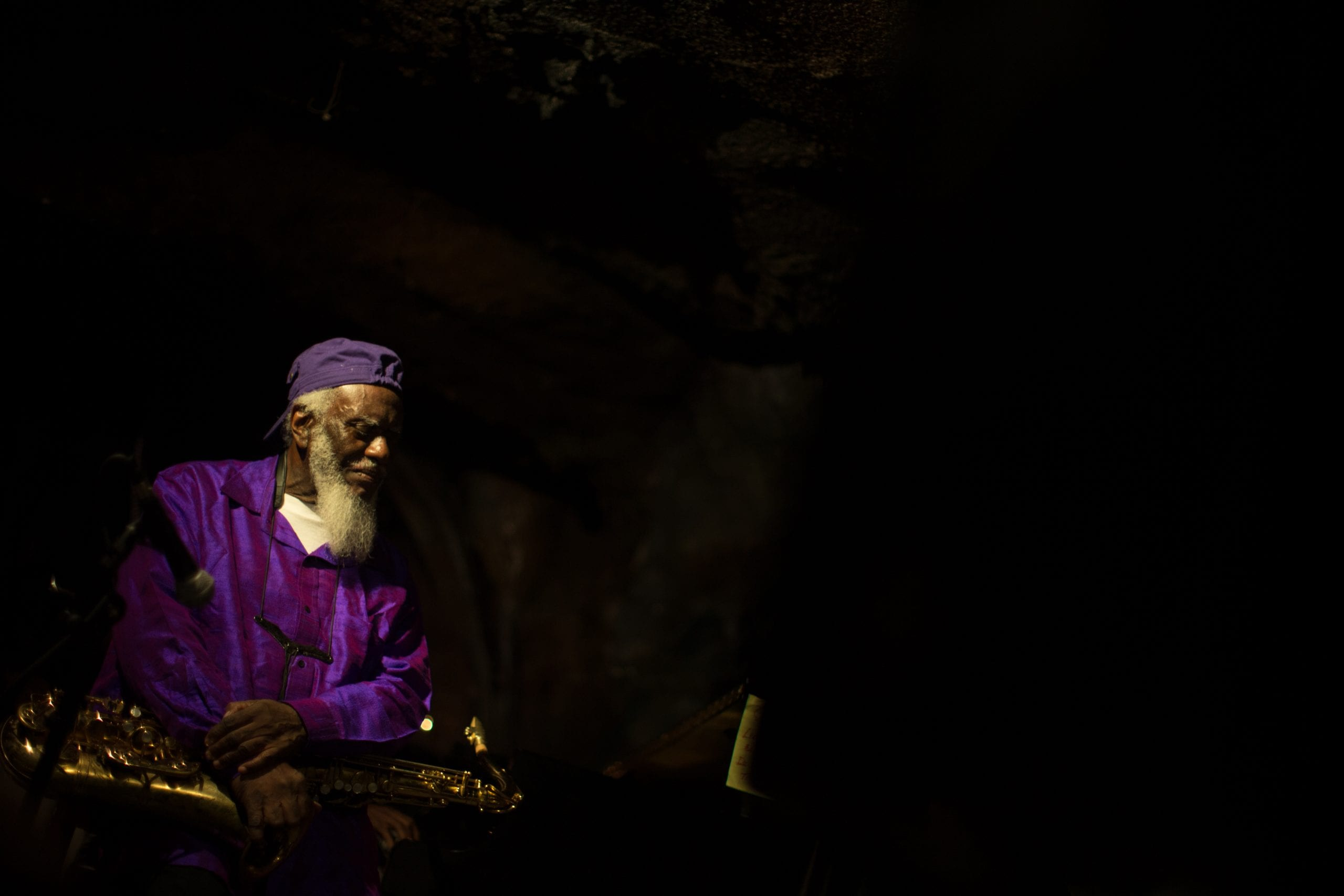 Pharoah Sanders performs at Bohemian Caverns. David L. McDuffie/CapitalBop