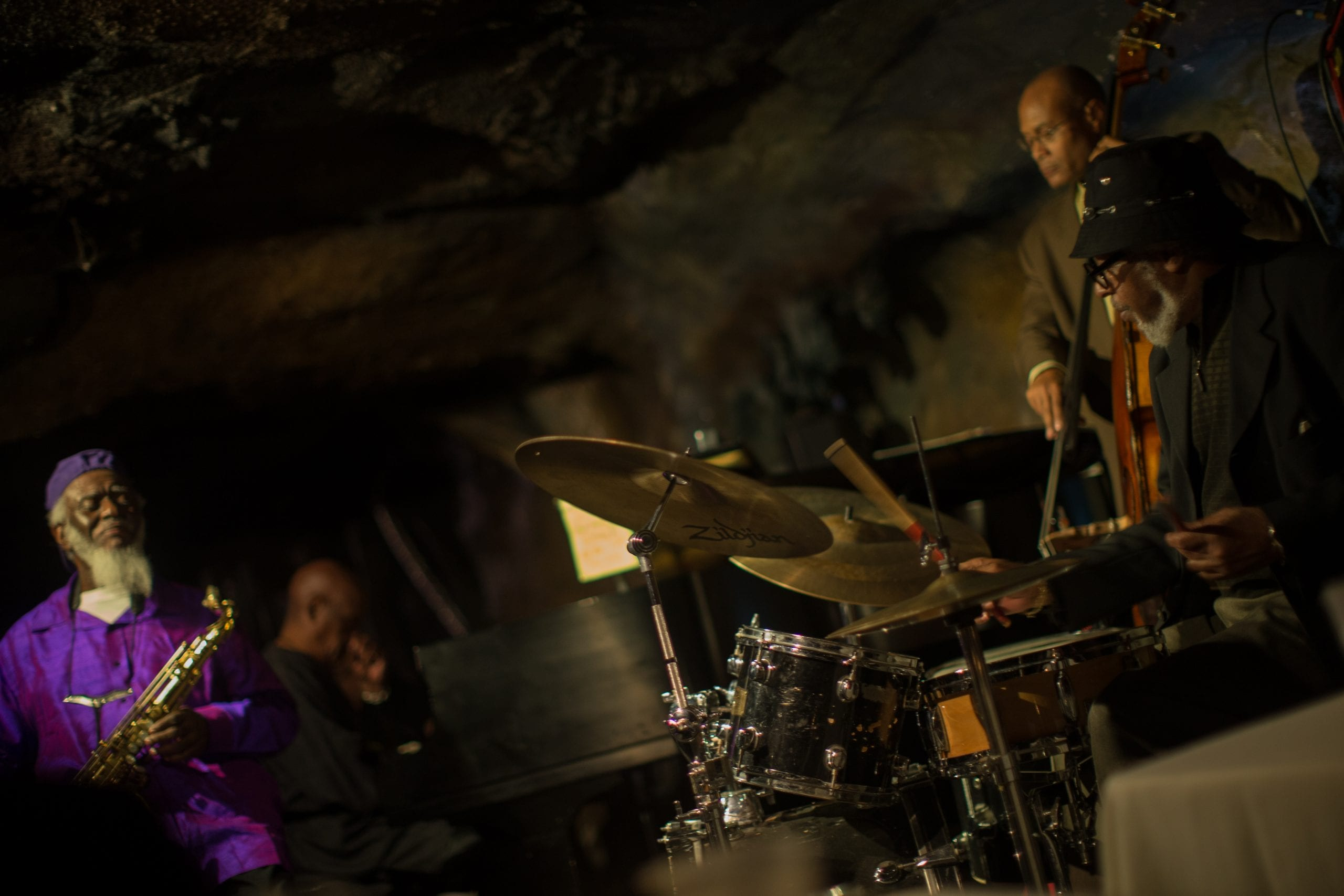 Pharoah Sanders and his quartet. David L. McDuffie/CapitalBop