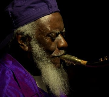 Pharoah Sanders performs on Friday night at Bohemian Caverns. Courtesy David L. McDuffie