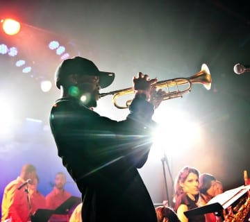 Igmar Thomas, shown here leading the Revive Big Band, brings his group the Cypher to D.C. this Sunday for a CapitalBop show. Courtesy Danika Peniston
