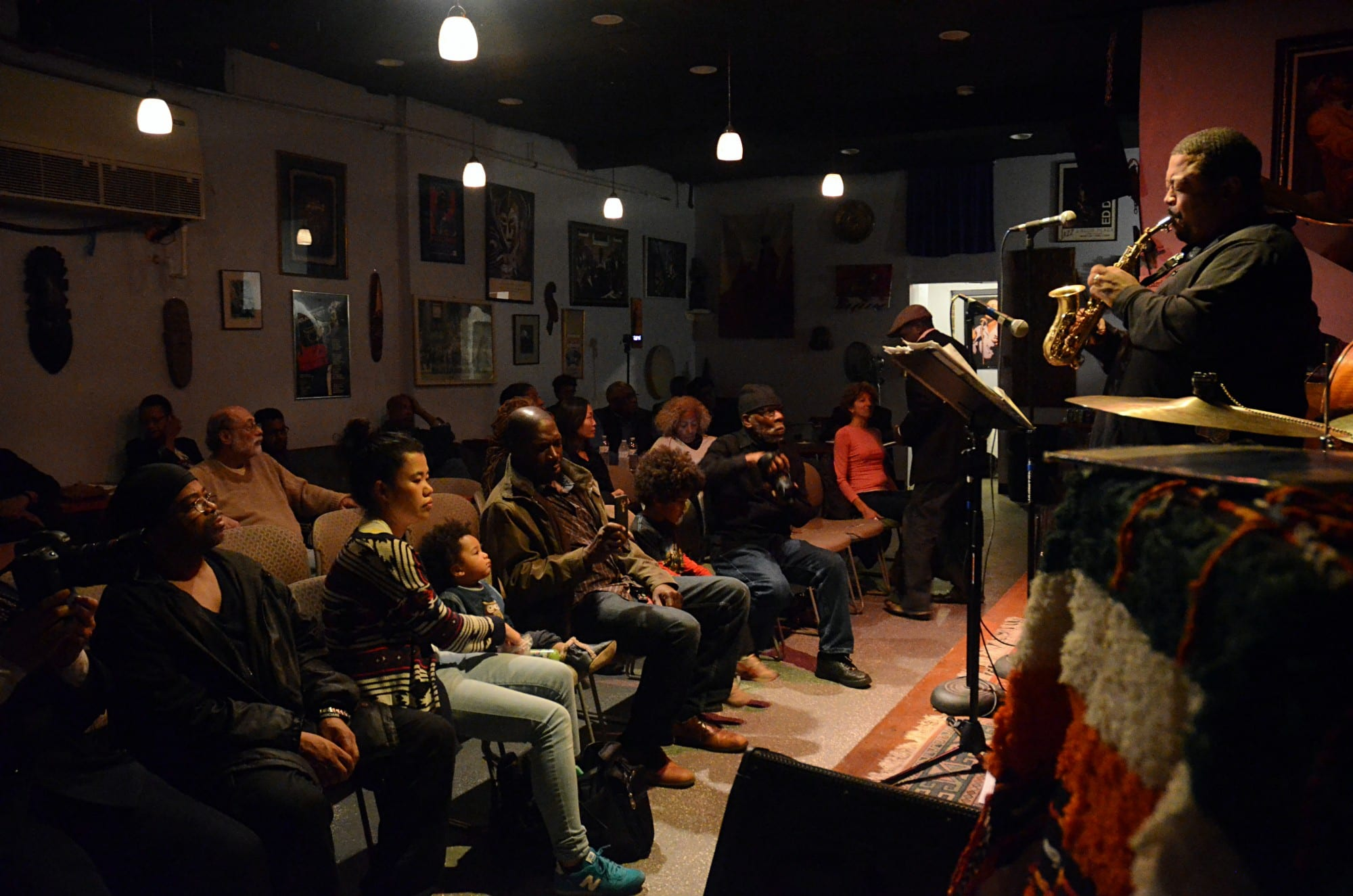 Saxophonist Craig Alston leads a band at JACS on a recent Sunday night. Barédu Ahmed/CapitalBop