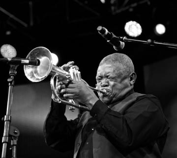 Hugh Masekela, shown here at the 2014, comes to AMP this Thursday. Ignatius Mokone/CapitalBop