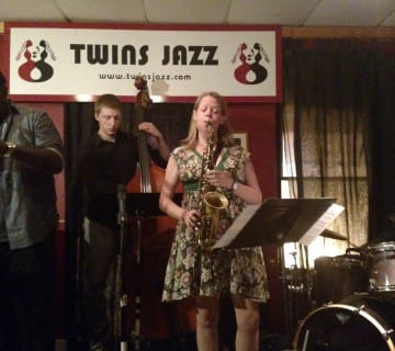 Chicago-via-New York saxophonist Caroline Davis led her quartet through a series of original compositions and covers at Twins Jazz. Courtesy John Cook