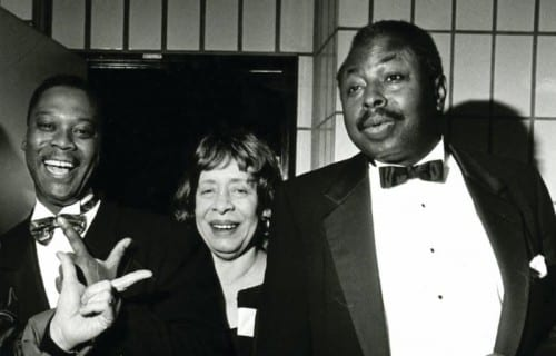 From left: Steve Williams, Shirley Horn and Charles Ables. Courtesy the Shirley Horn Collection at the Library of Congress