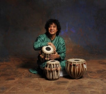Zakir Hussain has played the North Indian tabla in fusion groups and on major motion picture soundtracks. He performs on Thursday at the Sixth & I Historic Synagogue. Courtesy Jim McGuire