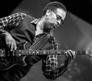 Bassist Stanley Clarke has donated an electric bass, among other memorabilia, to the permanent collection of the National Museum of African American History and Culture. Courtesy Antonio Porcar Cano