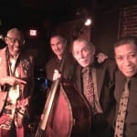 Andrew White, left, poses with his quartet after performing on April 26 at Blues Alley. Courtesy Bill Brower
