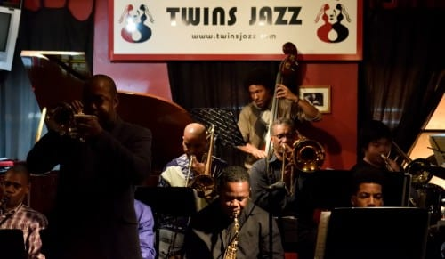 The Thad Wilson Jazz Orchestra, seen performing at Twins Jazz on a recent evening. Courtesy Stephanie Vadala