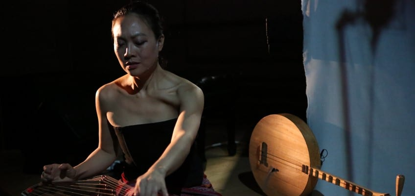 Jen Shyu plays at THEARC with her all-star ensemble Jade Tongue on April 14. Courtesy Steven Schreiber