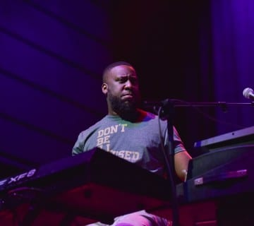 Robert Glasper performing at the Anthem with R+R=NOW during the DC Jazz Festival. Courtesy Fritzphotographics