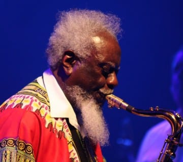 Pharoah Sanders, pictured here in Frankfurt in 2013, performs at the DC Jazz Festival on June 9. Courtesy Oliver Abels