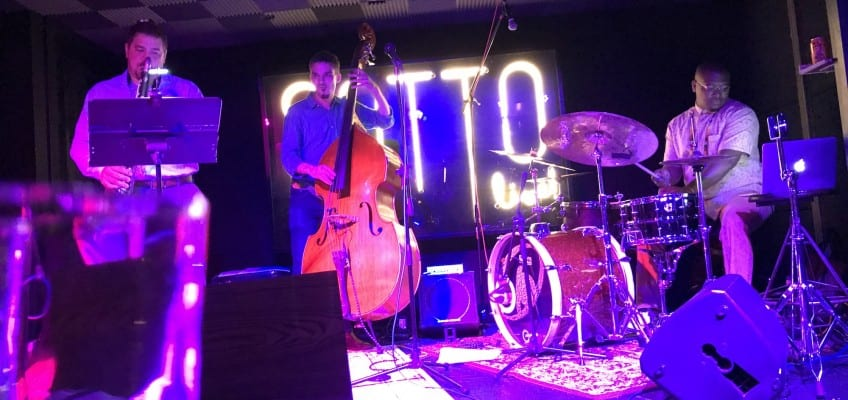 From left, Todd Marcus, Eliot Seppa and Dante' Pope performed together for the first time as a trio at Sotto. Jamie Sandel/CapitalBop