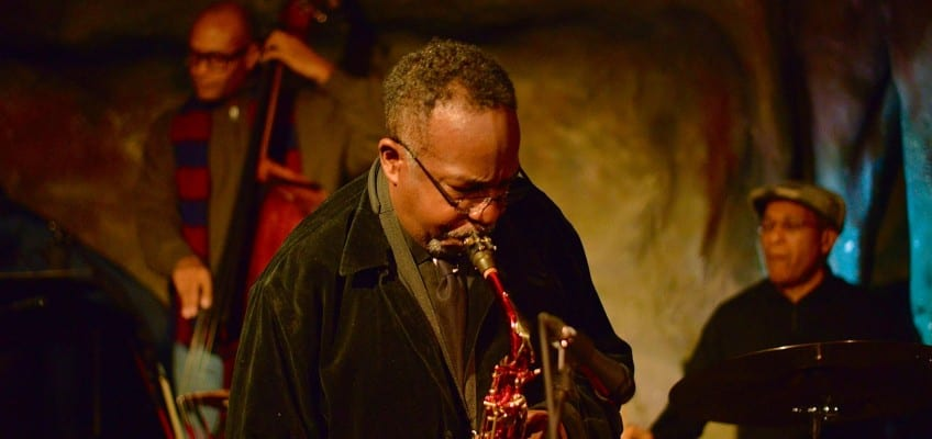Ron Sutton Jr., shown performing at Bohemian Caverns in 2015, caught the attention of preeminent jazz musicians early in his career. Courtesy Lawrence A. Randall