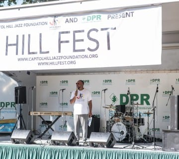Aaron Myers, shown here at Hillfest 2017, is one of the festival's musician organizers. Courtesy Aaron Myers