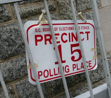 D.C. Precinct 15 sign/Courtesy angela n./Flickr
